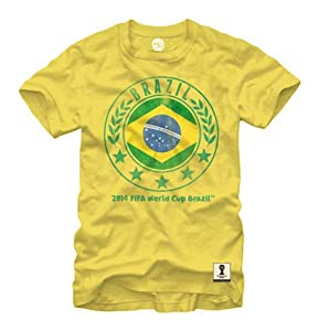 Buy Fifa Mens World Cup 2014 Brazil National Team Circle T-Shirt by Fifth Sun
