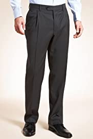 Collezione Pure Wool Single Pleat Stripe Trousers [T15-6874C-S]