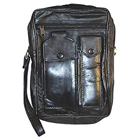 New Mens Genuine Leather Multipurpose Travel Bag
