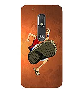 EPICCASE The Big Foot Mobile Back Case Cover For Moto Play (Designer Case)
