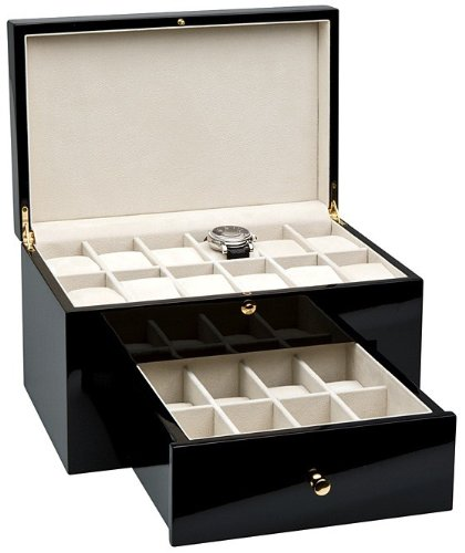 Rothenschild Accessories RS-16572 S Watch Box For 20 Watches Piano polish