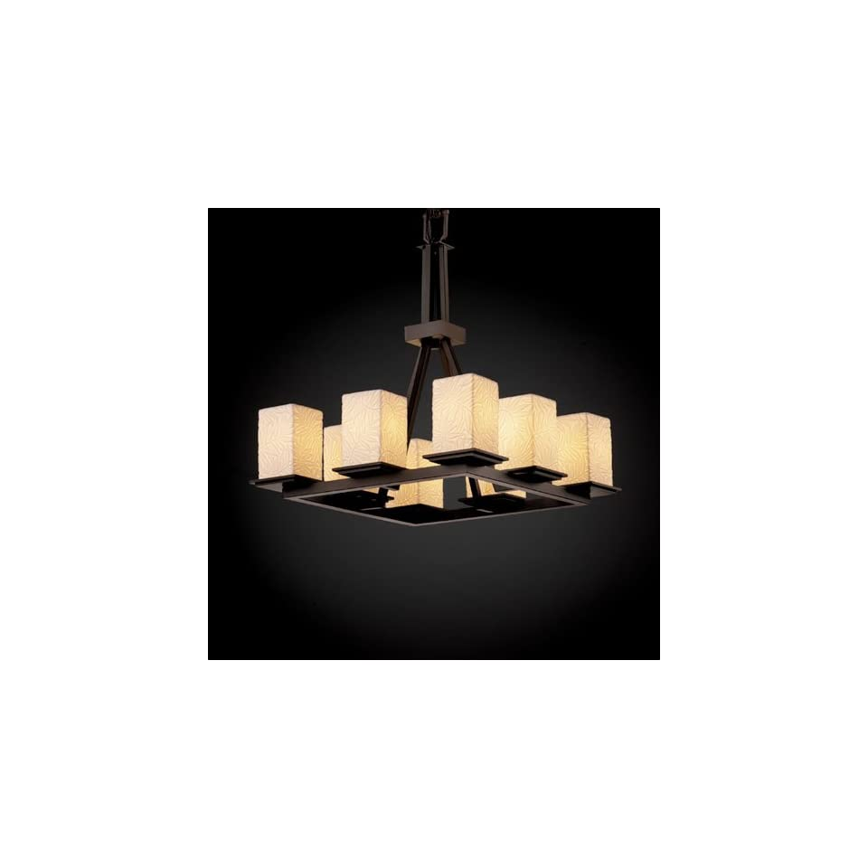 Justice Design Group POR 8666 Montana 8 Light Ring Chandelier