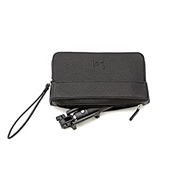 [GF] Selfie Stick And Custom Clutch Purse With Hidden Pocket for Selfie Stick (Black)