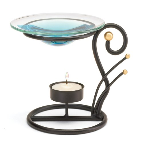 Koehler Indoor Home Decor Black Wrought Iron Tealight Candle Oil Warmer