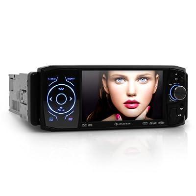 Auna Mvd420 Autoradio Moniceiver Bluetooth Freisprecheinrichtung Mit 4311 Cm Lcd Tft Touchscreen Dvd Codefree Single Din Fernbedienung von Auna