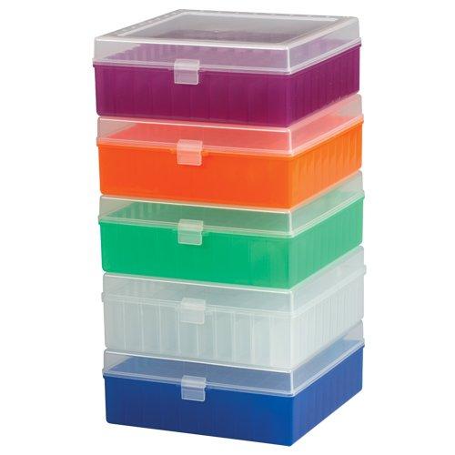 Scienceware 188510016 Cryogenic Freezer Storage Box Rack, 100-Place, Polypropylene, Assorted Colors, 6L x 5.7W x 2.2