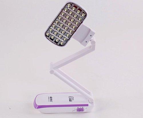 32Led 2000Mah Foldable Rechargable Desk Table Lamp Light White 360°Rotatable