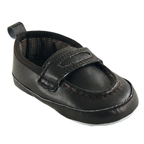 Boy'S Slip-On Shoe For Baby, Brown, 0-6 Months