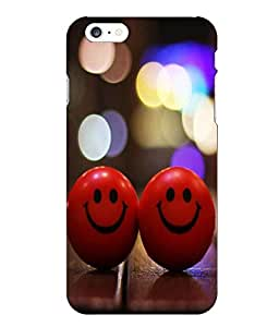 Make My Print Smiley Balls Printed Red Hard Back Cover For Iphone 6 Plus