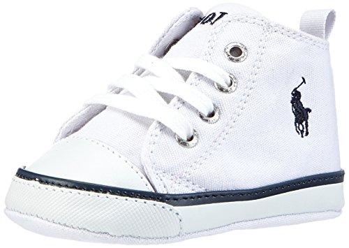 Polo Ralph Lauren Harbour Hi layette, Stivaletti bambine Bianco bianco, Bianco (Weiß (White Canvas/navy)), 19