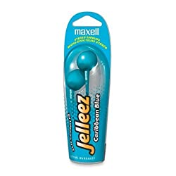 Maxell - EB-Blue Jelleez Comfortable Stereo Earbud Earphone