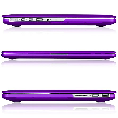 """Kuzy - Retina 13-Inch PURPLE Rubberized Hard Case for MacBook Pro 13.3"""" with Retina Display A1502 / A1425 (NEWEST VERSION) Shell Cover - PURPLE"""