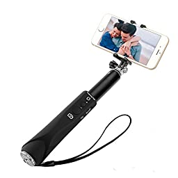 Selfie Stick, Archeer Self-portrait Monopod Extendable Selfie Stick with built-in Bluetooth Remote Shutter for iPhone 7, 7 Plus, 6, iPhone 5S, Samsung Galaxy S7 S6 S5, Android -Black
