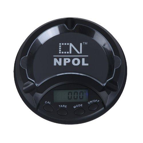 Andoer Mini-balance électronique de précision en forme de cendrier avec affichage LCD et rétroéclairage bleu 0,01 à 100 g