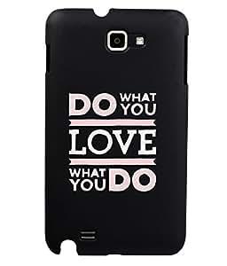 KolorEdge Back Cover For Samsung Galaxy Note N7000 - Black (1945-Ke15087SamNoteBlack3D)