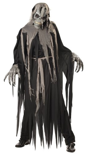 California Costumes Men's Ani-Motion Masks – Crypt Crawler Adult, Black/Grey, Medium
