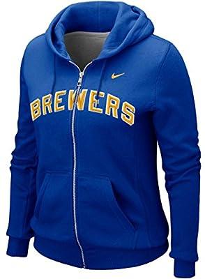 Nike Women's Milwaukee Brewers MLB Classic Full Zip Hoodie Sweater