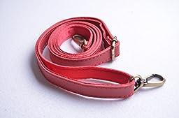 Wento 1pcs 0.98\'\' Wide 54 Inch Length Pu Leather Adjustable Bag Strap,leather Shoulder Handles,shoulder Bag Cross Body Replacement Strap Kz0017 (Red)