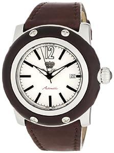 Glam Rock GR10201 - Reloj analógico de cuarzo para mujer con correa de piel, color marrón