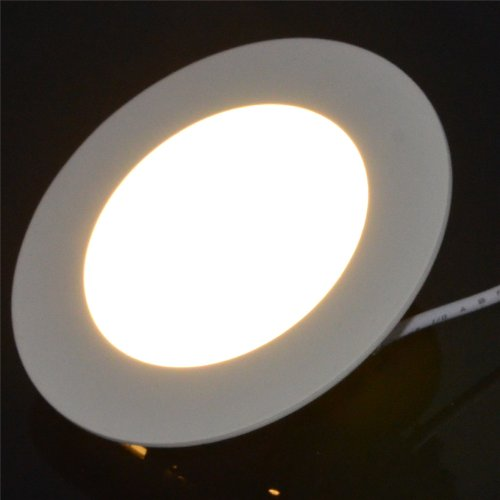 Inst 9W 5.9-Inch Led Ultra-Thin Panel Light, Downlight, Round Shape With Warm White Color Light