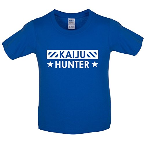 kaiju-hunter-childrens-kids-t-shirt-royal-blue-l-9-11-years