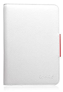 COD(TM) Bluetooth Keyboard Tablet Stand Leather Case for Samsung Galaxy Note 8.0 inch (White/Red)