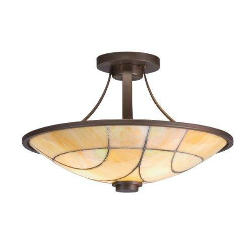 Kichler Lighting 69125 2-Light Spyro Art Glass Semi-Flush Ceiling Light, Olde Bronze