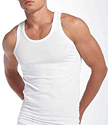 VIP Men's Cotton Vest 95cm (Pack of 5)VIP_White
