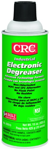 Crc Electronic General Purpose Degreaser, 15 Oz Aerosol Can, Clear