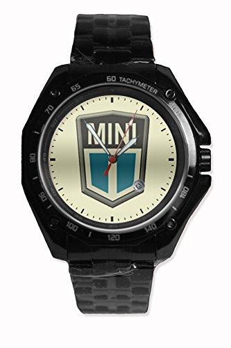 New Mini Car Logo Sport Watch Stainless Steel Black Alloy