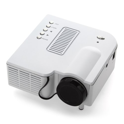 Koolertron® 60 Inches Multimedia Led Lcd Portable Vga Mini Projector For Iphone Ipad Samsung Galaxy (White)