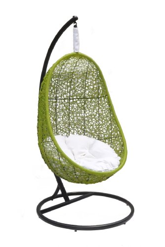 Belina - Synthetic Wicker Porch Swing Chair - Great Hammocks - Model - Y9037gn image