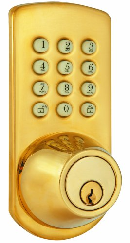 Morning Industry PKF-01P Keypad Deadbolt Polished BrassB0006BH8JO : image