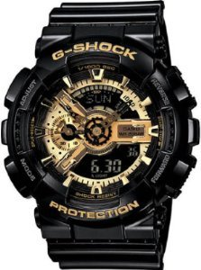 Casio Men's GA110GB-1A Black Resin Quartz Watch with Black Dial