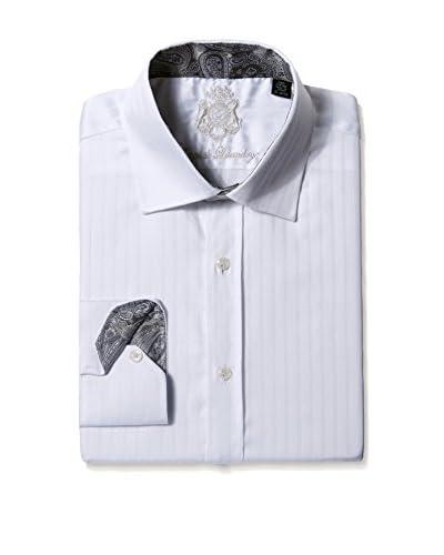 English Laundry Men's Mini Herringbone Dress Shirt