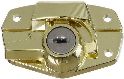National Hardware Vka821 Keyed Sash Lock In Brass front-751097