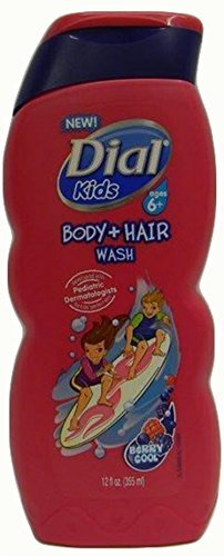 Dial Kids Body + Hair Wash, Berry Cool, 12 Ounce (Pack of 6) (Dial Soap No Scent compare prices)