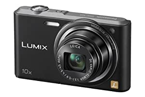 Panasonic Lumix DMC-SZ3EB-K Compact Digital Camera - Black (16.1MP, 10x Optical Zoom with Leica DC Lens, 25mm Wide Angle Lens, HD Video Recording) 2.7 inch LCD
