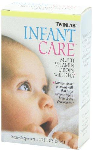 Twinlab 甜橙口味 宝宝10种天然维生素 + DHA复合滴剂,50ml*3瓶图片