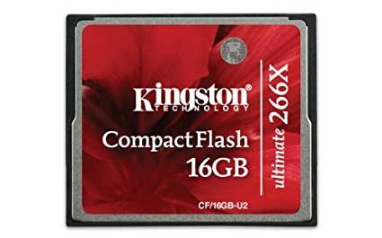Kingston CF/16GB-U2 Compact Flash 16GB Ultimate 266x Memory Card