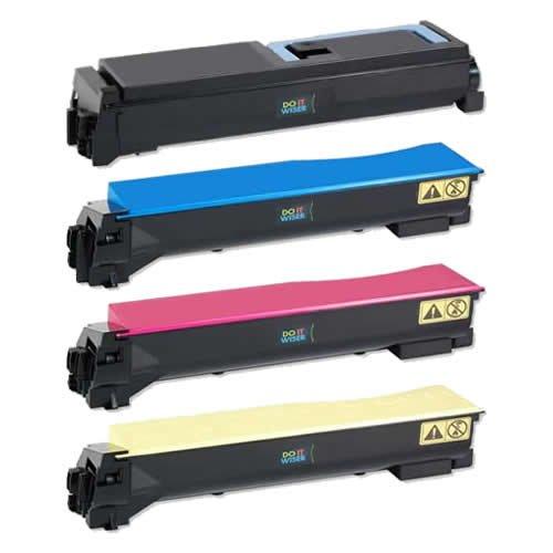 Doitwiser Compatible Toner Cartridges Set Black Cyan Magenta Yellow For Kyocera TK540 FS-C5100 FS-C5100DN -... Black Friday & Cyber Monday 2014