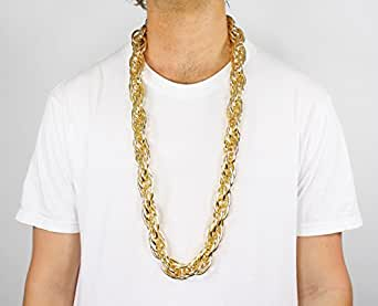 Gold Metal Rope Chain Necklace