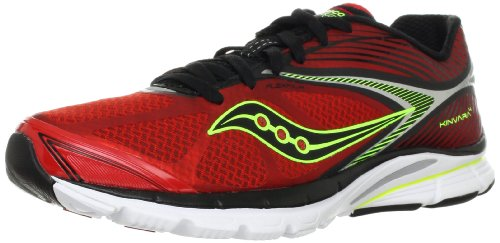 Saucony Men's Kinvara 4 Running Shoe,Red/Black/Citron,10.5 M US