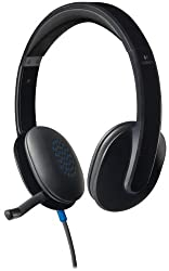 Logitech USB Headset H540 for PC Calls and Music - Black (981-000510)
