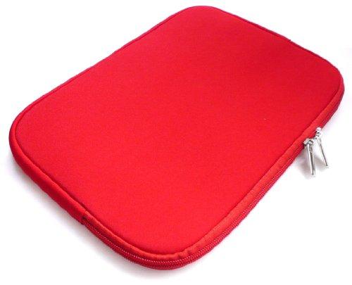 Emartbuy® Engel Axil TB0725IPS 7 Zoll Tablet Rot Wasserdicht Neopren weicher Reißverschluss Kasten Hülsen Abdeckungs ( 7 Zoll eReader / Tablet / Netbook )