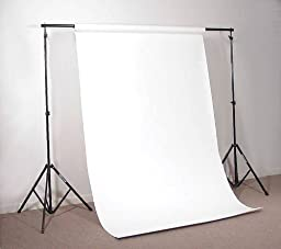 Alzo Portable Background Support- Adjustable Up To 10 Ft Wide with Reinforced Bar And Heavy Duty Air Cushioned Stands