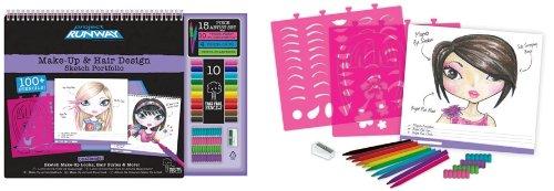 Fashion Angels Project Runway Make-Up & Hair Design Sketch Portfolio & Artist Set