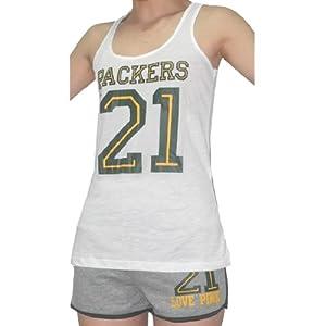 2 PCS: NFL Green Bay Packers #21 Ladies Pink Victoria