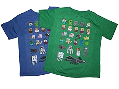 Minecraft Character Short Sleeved Tee