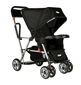 Joovy Caboose Ultralight Stand On Tandem Stroller, Black